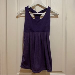Lululemon Babydoll Tank Top Purple Small Run Yoga
